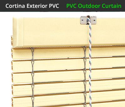 Persianas alicantinas de pvc fabricadas a medida for Cortinas de exterior