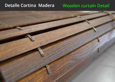 Persiana alicantinas de madera fabricadas a medida - Persiana enrollable madera ...