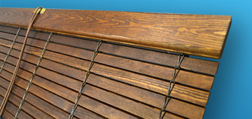 Outdoor Wood Blinds