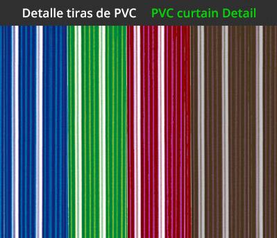 Cortina para puerta mod marbella for Cortinas plastico para exteriores