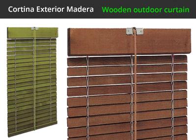 Persiana alicantinas de madera fabricadas a medida for Cortinas para exterior
