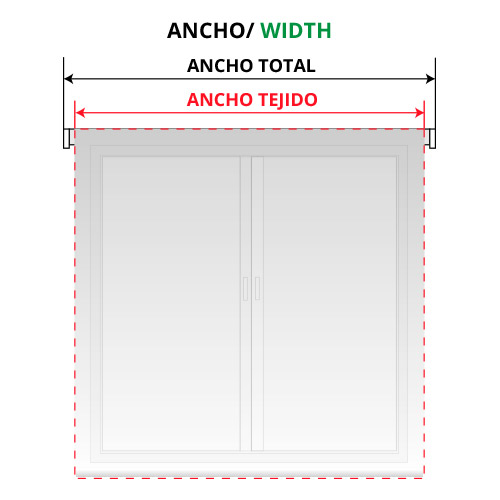 Ancho estor enrollable