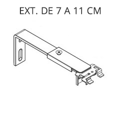 Venecianas Indeformables Pvc 25mm Pared-Extensible-7-11-cm