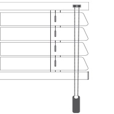 Cortinadecor 16 Mm Aluminium Venetian Blinds Chain-Mono-command