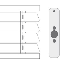 Cortinadecor 16 Mm Aluminium Venetian Blinds Somfy-remote-control