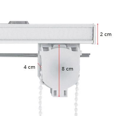 Mecanismo de estor con varilla plegable y sin varilla paqueto - Medidas de estores ...