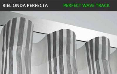 Riel para cortinas de onda perfecta for Ganchos para cortinas de riel