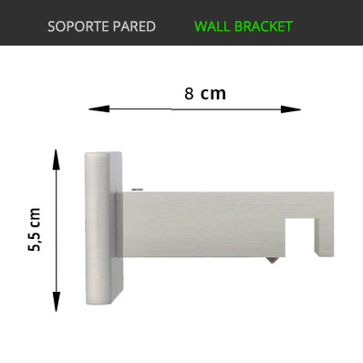 soporte pared riel decorativo