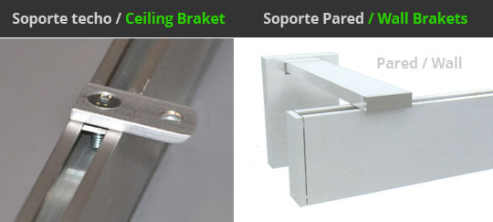 soportes riel decorativo cortinas