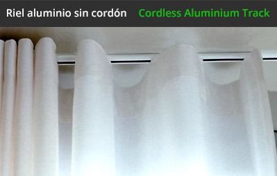 Riel sin cordon para cortinas a medida for Ganchos para cortinas de riel