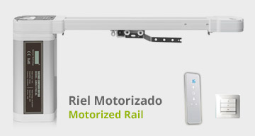 Riel motorizado de cortinadecor