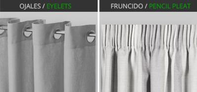 Cortinas para probadores for Ganchos para cortinas de riel