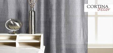 Cortinas de tela cortinadecor for Cortinas en tonos grises