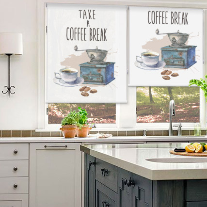 Coffee Time Print Blinds