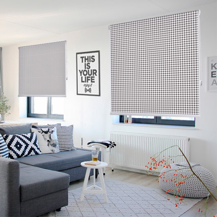 Vichy printed blinds
