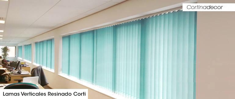 cortinas verticales resinado corti