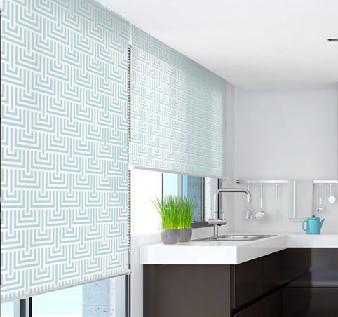 Prints roller blinds