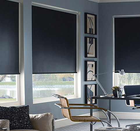 Opaque roller blinds