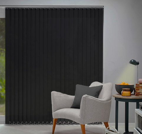 Opac curtains vertical slats