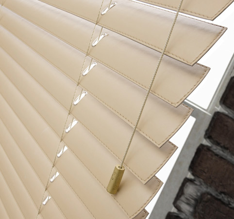 Leather venetian blinds