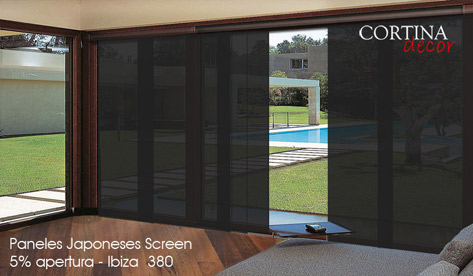 Screen Japanese Panels Ibiza 380
