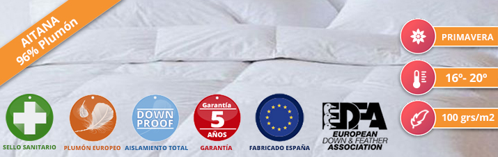 Duvet Nordicor Aitana 100 European Down & Feather