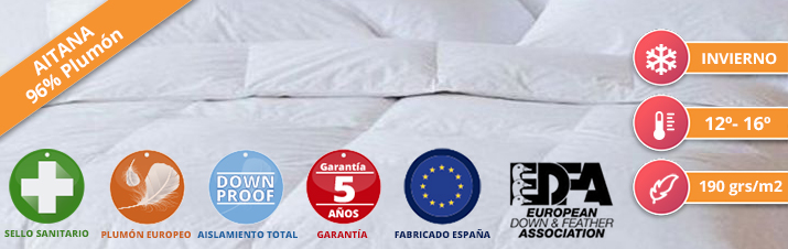 Duvet Nordicor Aitana 190 European Down & Feather