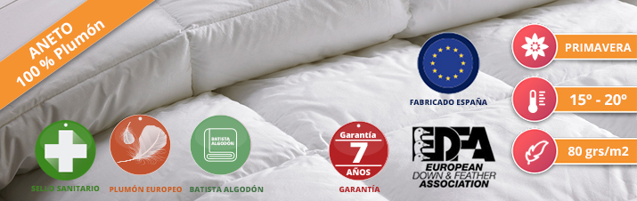 Duvet Nordicor Aneto 80 European Down & Feather