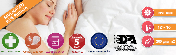 Duvet Nordicor Mulhacén 200 European Down & Feather
