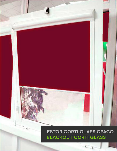 Estor enrollable guiado Corti Glass Opaco