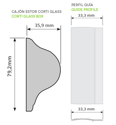 medidas de interes estor corti glass
