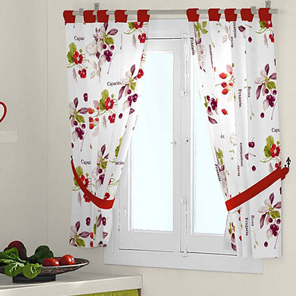 Cortinas dolce cocina for Cortinas faciles