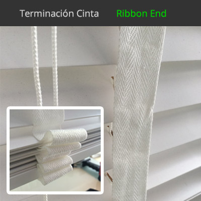 Venecianas de madera natural cortinadecor 50mm fabricadas a medida - Tipos de cintas para cortinas ...
