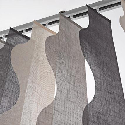 Cortinas de lamas verticales retro hechas a tu medida for Telas para cortinas de salon