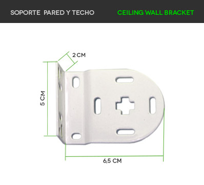 Soporte pared y techo screen