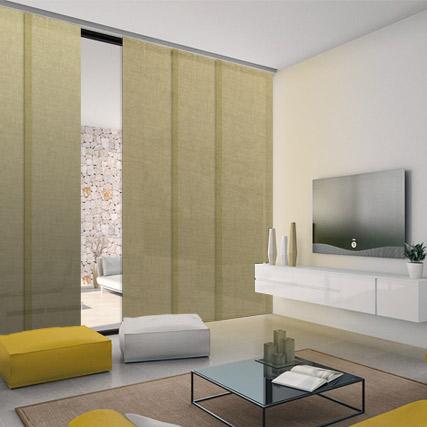 Lino corti paneles paneles japoneses cortinadecor - Telas para cortinas el corte ingles ...
