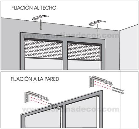 Como instalar cortinas verticales - Colocar estor enrollable techo ...