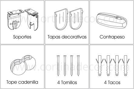 Como instalar estores enrollables - Soporte para estores ...