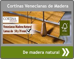 Moda en cortinas y estores - Cortinas venecianas madera ...