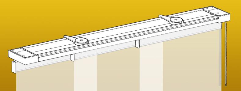 Rieles para paneles japoneses for Como blanquear cortinas
