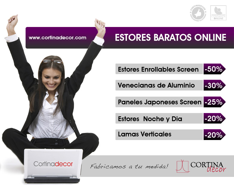 Estores baratos barcelona despacho con estores verticales for Estores infantiles baratos