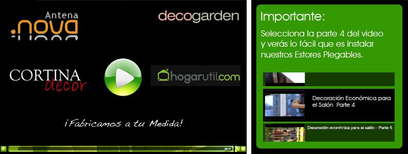 Video de instalcion de Estores Plegables