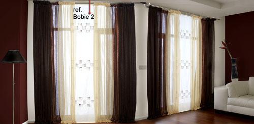 Decoraciones modelos de cortinas - Cortinas marron chocolate ...