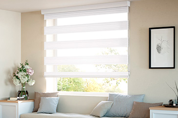 Blinds Roll-up night and day